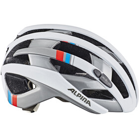 Alpina Campiglio Helmet white-silver-blue-red